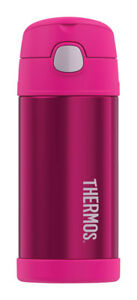 NEW! THERMOS FUNtainer Stainless Steel Insulated Thermos Bottle 12 oz. Pink