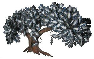 Large Vintage Chrome Tree Metal Wall Sculpture by Bill Blackford