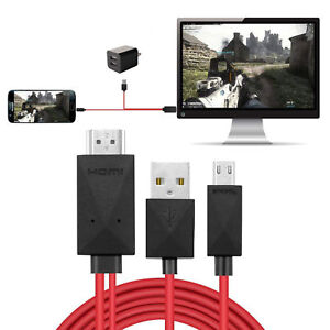 6.6ft 1080P MHL Micro USB to HDMI HD TV Cable Adapter for Samsung Android 11PIN