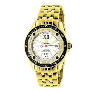 Centorum Men's Midsize Falcon 12ct TDW White Diamond Watches Metal Band plus