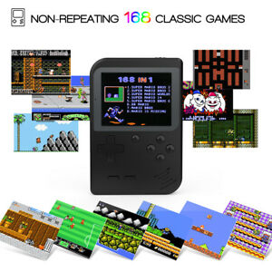 2.8'' TFT Mini Handheld Game Console With 168 Classic TV Games Kids Xmas Gifts