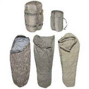 5 Piece ACU Modular Sleep System Army Digital Camo Military Issue Sleeping Bags