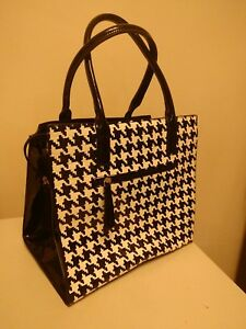 Rimen & Co. Large Patent Leather Fabulous BlackWhite Bag. Must have Elegance!
