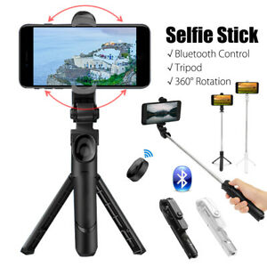 Extendable Selfie Stick Tripod Monopod bluetooth Remote Shutter For iOS Android
