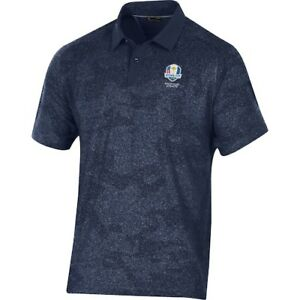 2020 Ryder Cup Under Armour Threadborne Sprocket Polo - Navy