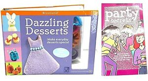 American Girl Dazzling Desserts Party Secrets Books Recipes Cookie Cutters