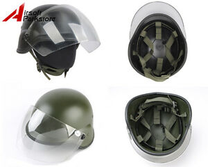 Airsoft Tactical Paintball Wargame M88 PASGT Kelver Swat Helmet with Clear Visor