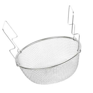 Stainless Steel Mesh Strainer Basket Food Presentation Cooking Tools 23cm