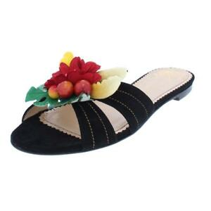 Charlotte Olympia Womens Suede Tropical Floral Dress Sandals Evening BHFO 9111