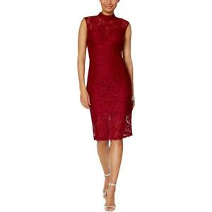Betsy & Adam Womens Lace Sheath Party Cocktail Dress BHFO 1942