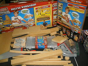 NEW Real Construction Kid Wood Large Refill & used Deluxe Workshop
