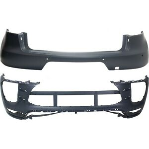 New Bumper Cover Facial Front & Rear Porsche Macan 15-17 PO1000194 PO1100156