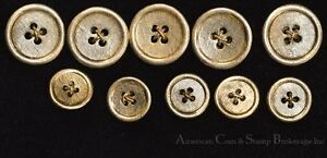 Vintage 14K Gold Buttons 10 Total 5 15mm & 5 20mm Cross Hatch Design Well Made