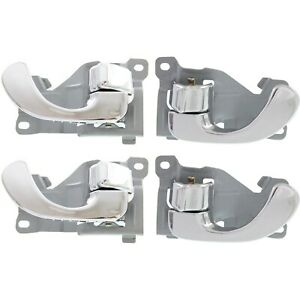 Door Handle Set For 1999-03 Mitsubishi Galant All Chrome Front & Rear Inner 4Pc