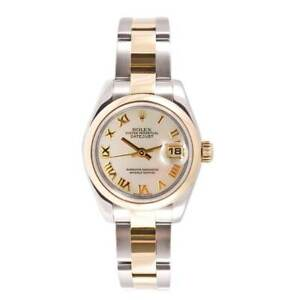 Pre-owned Rolex Women's Datejust Two-tone Mother of Cultured Pearl Dial Watch