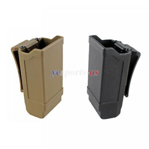 Rapid Double Stack Mag Pouch Carrier Single Magazine Holster for 9mm to .45 cal