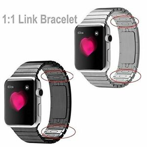 1:1  Link Bracelet Stainless Steel Band Strap For Apple Watch Series 4 3 2 1