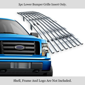 Fits 2009-2014 Ford F-150 Lower Bumper Stainless Chrome Billet Grille Insert