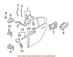 For BMW Genuine Exterior Door Handle Rear Left Outer 51217191891