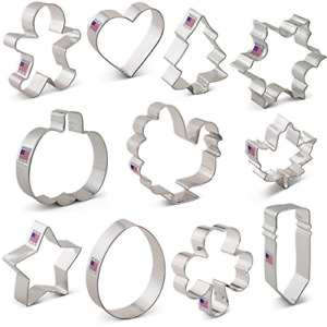 Cookie Cutters for Every Season Set - 11 piece - Ann Clark - US Tin Plated Steel