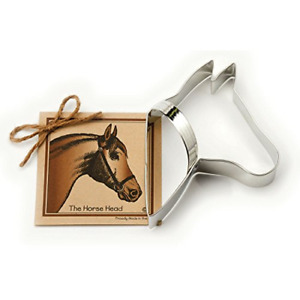 Horse Head Cookie and Fondant Cutter - Ann Clark - 5.5 Inches - US Tin Plated