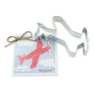 Airplane Cookie and Fondant Cutter - Ann Clark - 5.4 Inches - US Tin Plated