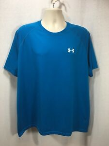 Under Armour Loose Fit Mens XL Top Tee T-shirt Short Sleeve Blue