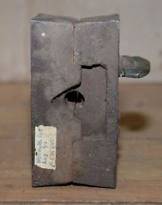 Antique huge bullet mold die collectible lead military armory tool early heavy
