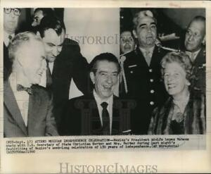 1960 Press Photo Mexico's Mateos chats with Secretary of State and Mrs. Herter
