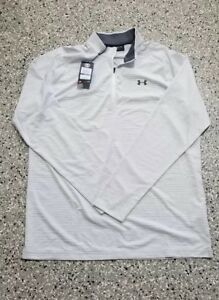 New Under Armour Golf Men's Loose Fit Striped 14 Zip Shirt Top X-Large