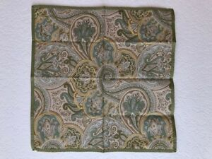 KAREN LEE BALLARD SET OF 8 ASCOT MOSS PAISLEY NAPKINS - NEW WITH TAGS