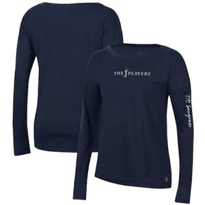 THE PLAYERS Under Armour Women's Performance Cotton Long Sleeve T-Shirt - Navy