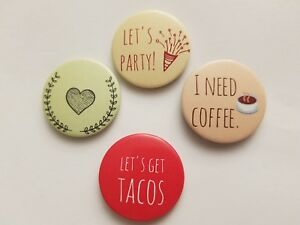 1.25 Magnet Food Party Humor Set of 4