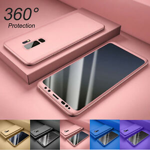 For Samsung Galaxy S9 S10 Plus 360° Full Body Hard Case +Screen Protector Cover