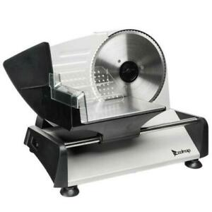 7.5quot; Electric Meat Slicer Deli Commercial Food Cheese Restaurant Cutter Blade