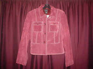 LADIE'S INC (LIGHT RUST? BURNT RED?) SUEDE LEATHER COATJACKET SZ. LARGE (NEW)