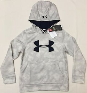 NWT youth Boys' YSM small UNDER ARMOUR hooded sweatshirt STORM1 hoodie COLDGEAR