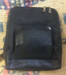 Vtg Etienne Aigner Black Leather Backpack Purse Bookbag