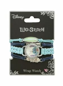 Disney Lilo & Stitch Face Bling Watch Cord Bracelet Set Arm Party