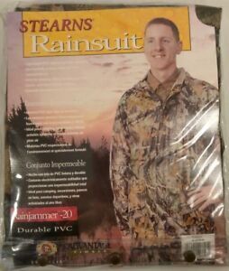 Stearn Drywear Camo Rainjammer-20 Rainsuit Hunting Waterproof Jacket Pant M L XL