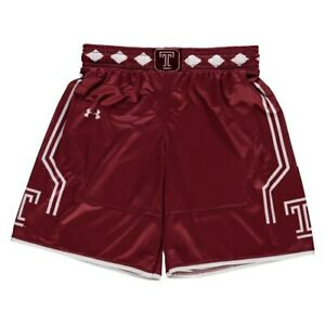 Temple Owls Under Armour Youth Replica Basketball Shorts - Cardinal