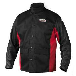 Lincoln Electric 2X-Large K2987 Shadow Grain Leather Sleeve Welding Jacket