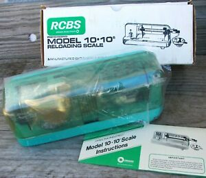 Rare Vintage New In Box RCBS 10-10 Micrometer PowderBullet Scale reloading