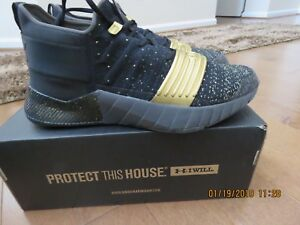 Under Armour C1N Trainer Shoes Boys Youth size 6Y (BlackGold) GS