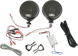 MH Motorcycle Rumble Road Ultra Amplified Stereo Black System For 1