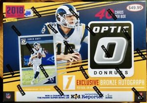 SEALED 2018 Panini DONRUSS OPTIC Football  Retail Box w BRONZE AUTO RC