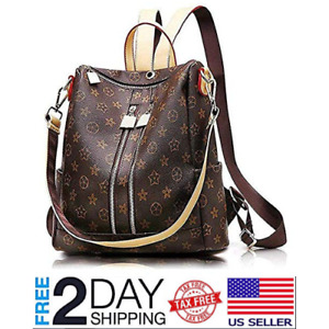 Women Leather Backpack Fashion Casual Purse Crossbady Shoulder Bag 2019 Design
