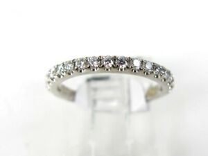 Estate 14k White Gold Natural .50ctw Diamond Ladies Band Ring 2.2g eb4817