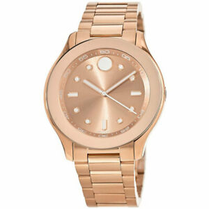 Movado 3600417 Women's Bold Swiss Quartz Rose Gold Bracelet Watch