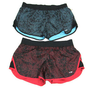 New Lot of 2 Champion Duo Dry Womens Shorts Large Fitness Workout Running